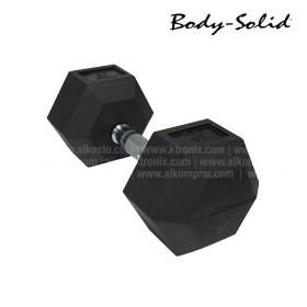 Mancuerna Hexagonal Encauchetada BODYSOLID 45LB