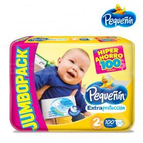 Pañal PEQUEÑIN Jumbo Etapa 2 Caja 100