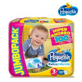 Pañal PEQUEÑIN Jumbo Etapa 3 Caja x 100