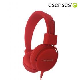 Audífono ESENSES Alámbrico HP-601 OnEar 3.5 Rojo