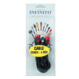Cable INFINITO Audio 2RCA /1Stereo