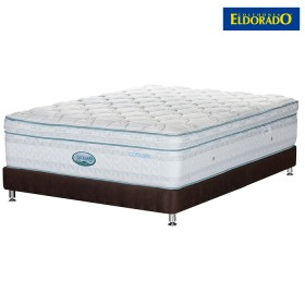 KOMBO ELDORADO: Colchón Coolmax King + Base cama Chocolate