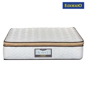 KOMBO ELDORADO: Colchón Doble Florence 140x190 cms Resortado + Base Cama Nova Chocolate