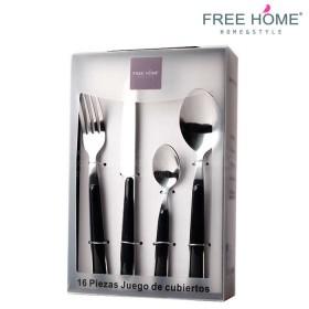 Juego de Cubiertos FREE HOME 16 Piezas Negro-7