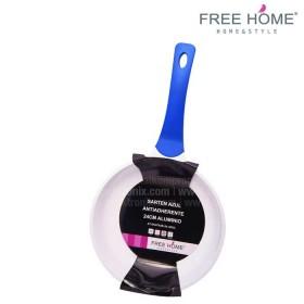 Sartén FREE HOME 24Cms Azul XT-DC6703B
