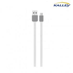 Cable USB/Micro USB Kalley Blanco 1 Metro