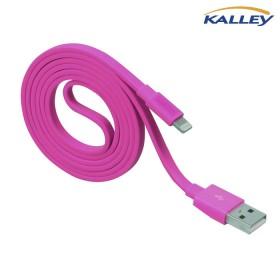 Cable USB/ Lightning KALLEY Rojo