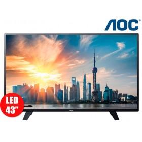 """Tv43"""" 109cm LED AOC 43F1861 FullHD Internet"""