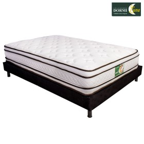 KOMBO: Colchón de resortes DORMILUNA Mercurio Top Doble +  Base cama Doble