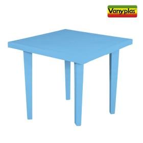 Mesa VANYPLAS 75X75 Azul Tropical