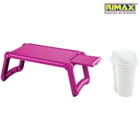 Mesa Laptop RIMAX Fucsia + Papelera