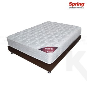 KOMBO: Colchón de Resorte SPRING Emotion C-3 Sencillo + Base Cama Salim