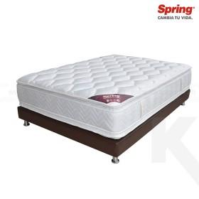 KOMBO: Colchón de Resorte SPRING Life New C5 Doble + Base cama Salim Doble