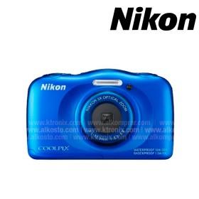 Cámara NIKON S33 sumergible Azul +  Memoria SD 8GB
