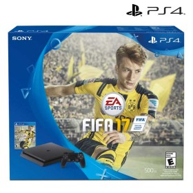 KOMBO: Consola PS4 Slim Fifa 17 + Control PS4 Dual Shock SONY Color Azul