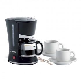 Combo UNIVERSAL Cafetera 4 a 6 tazas + Set (2 pocillos + 2 platos + 2 cucharas)