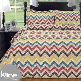 Edredón K-LINE Queen Zig-Zag Multicolor 144 Hilos Algodón 100%
