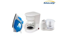 Kombo KALLEY Cafetera100K + Plancha de Ropa 100AA + Procesador de alimentos B01