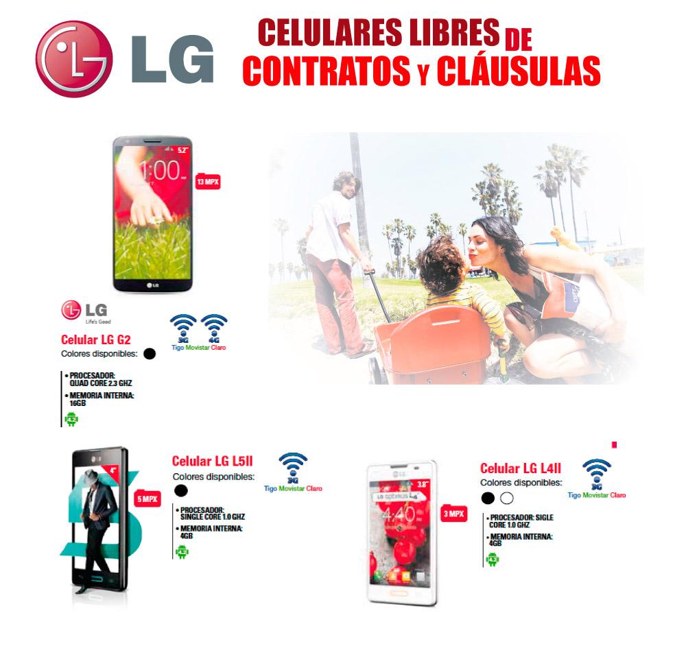 Celulares LG Landing