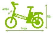 Medidas Bicicleta Eléctrica Serie Viaggio 350