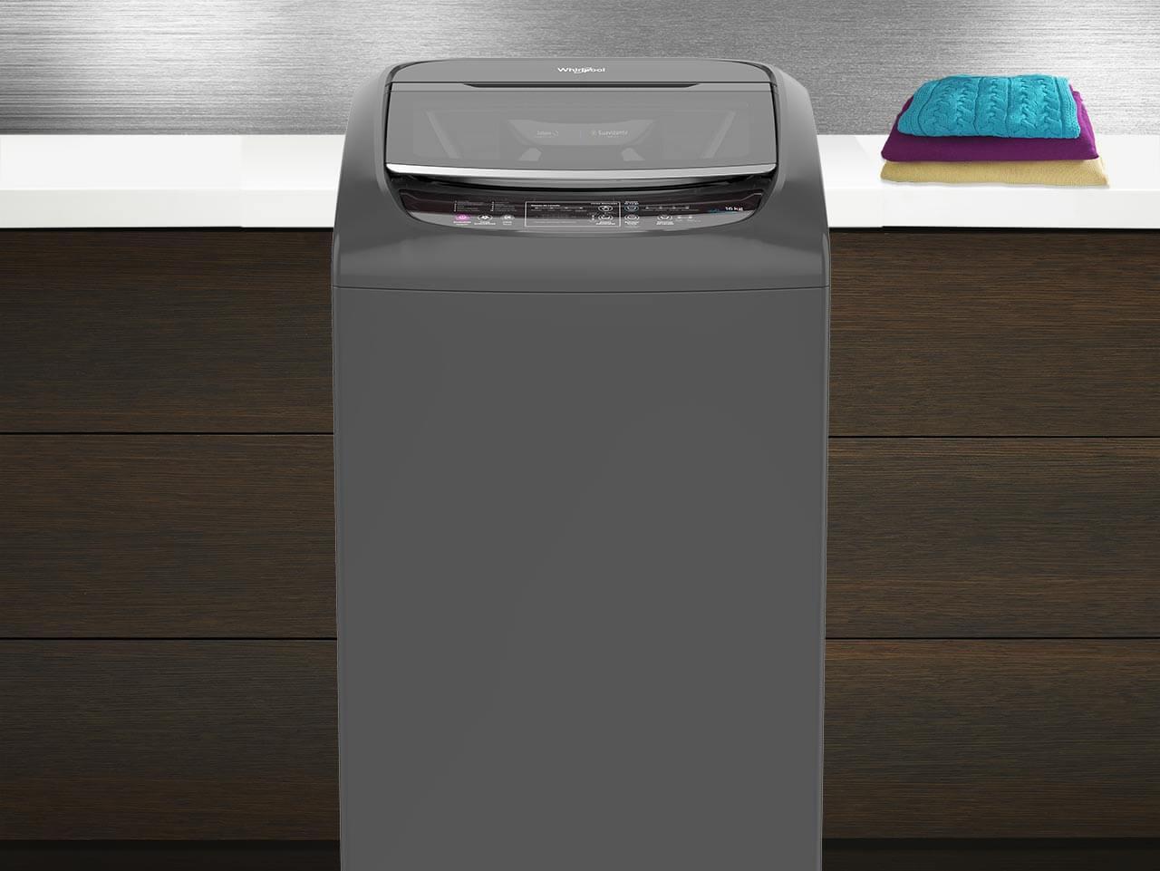 ista frontal de la lavadora