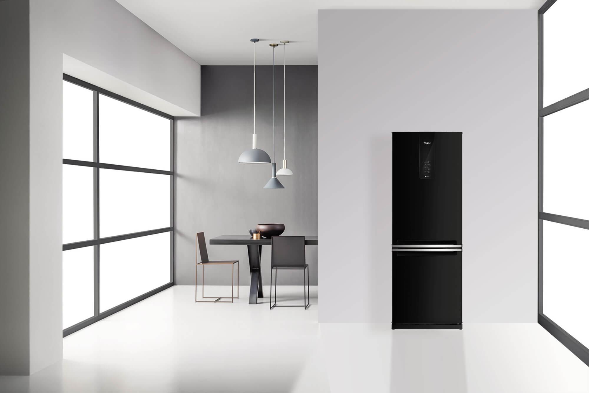 Nevera Top Mount 515 Litros de color negra y diseño indiscutible.