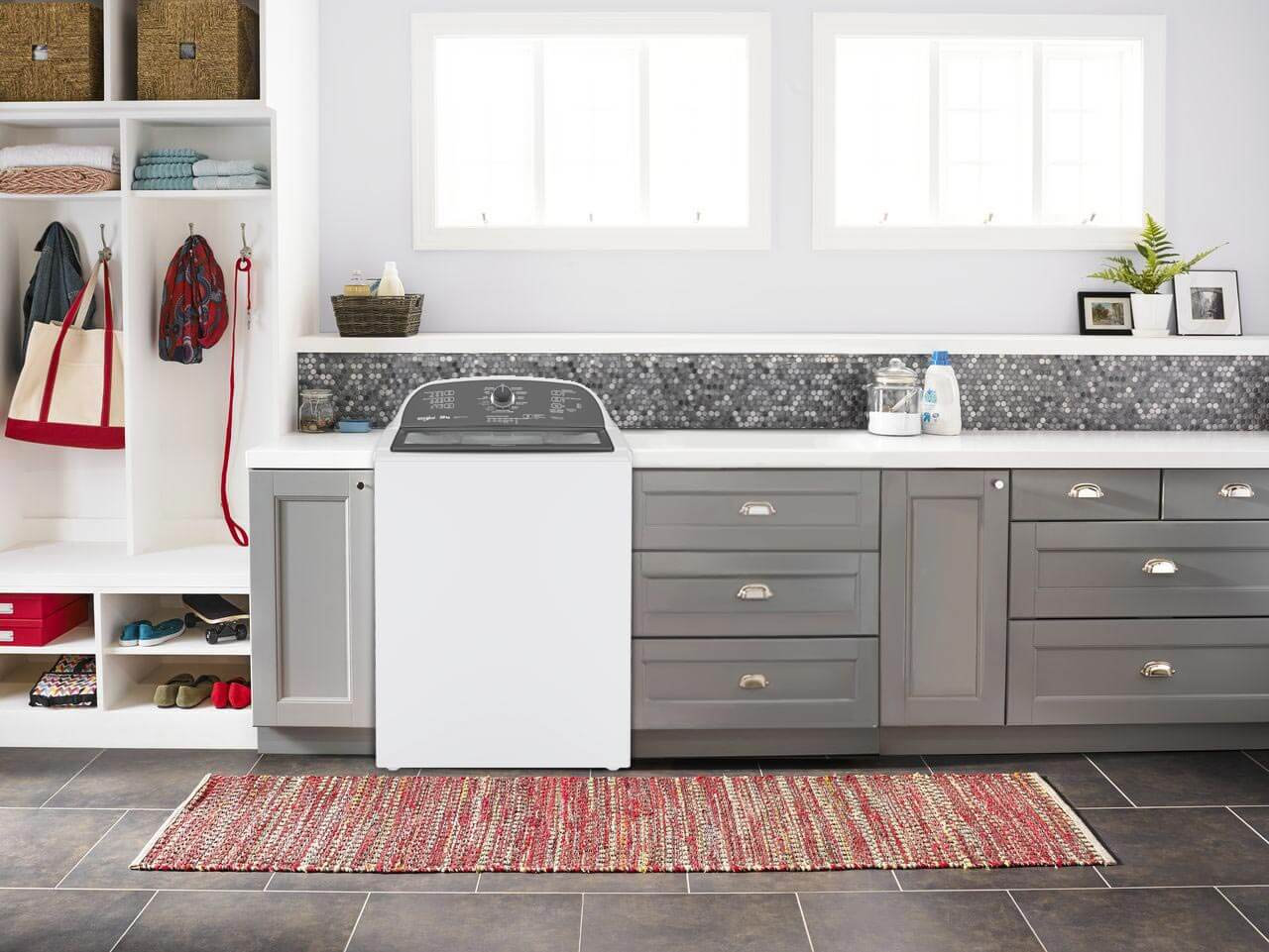 Lavadora que se ajusta mejor a tus espacios y te da mayor capacidad de lavado.