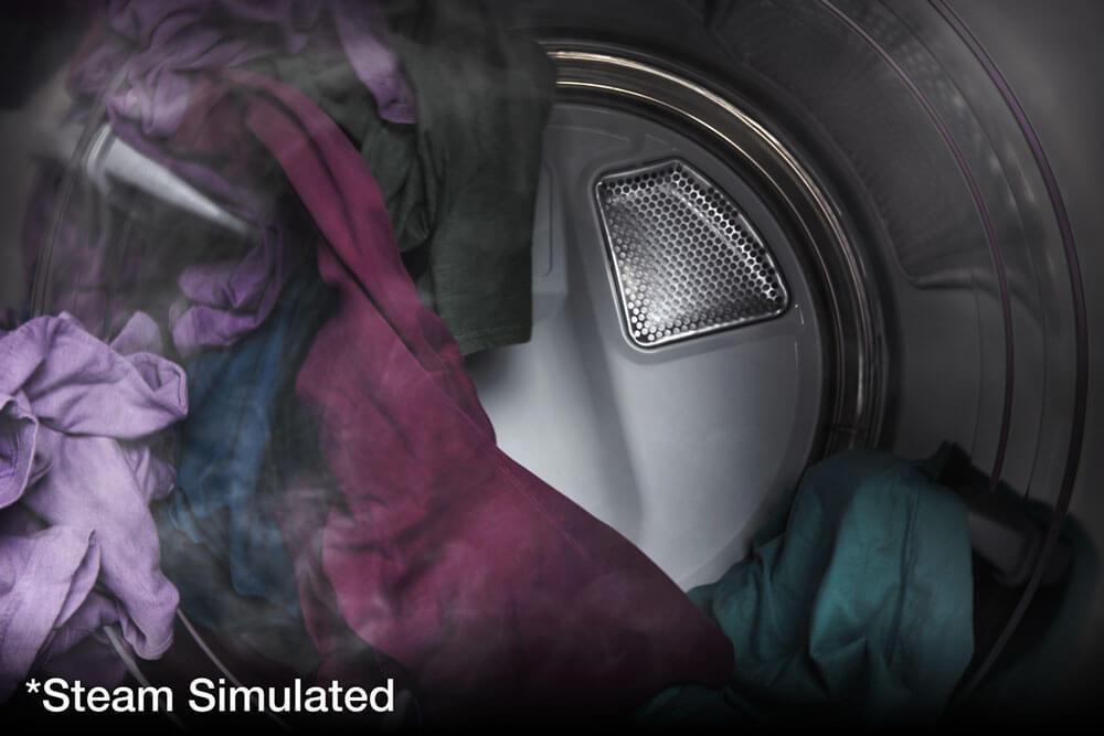 Proceso de secado con vapor. (efecto simualdo en la imagen).
