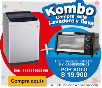 Lavadora LG Smart Inverter CS 13 Kg WT13DSBP Silver Alkosto