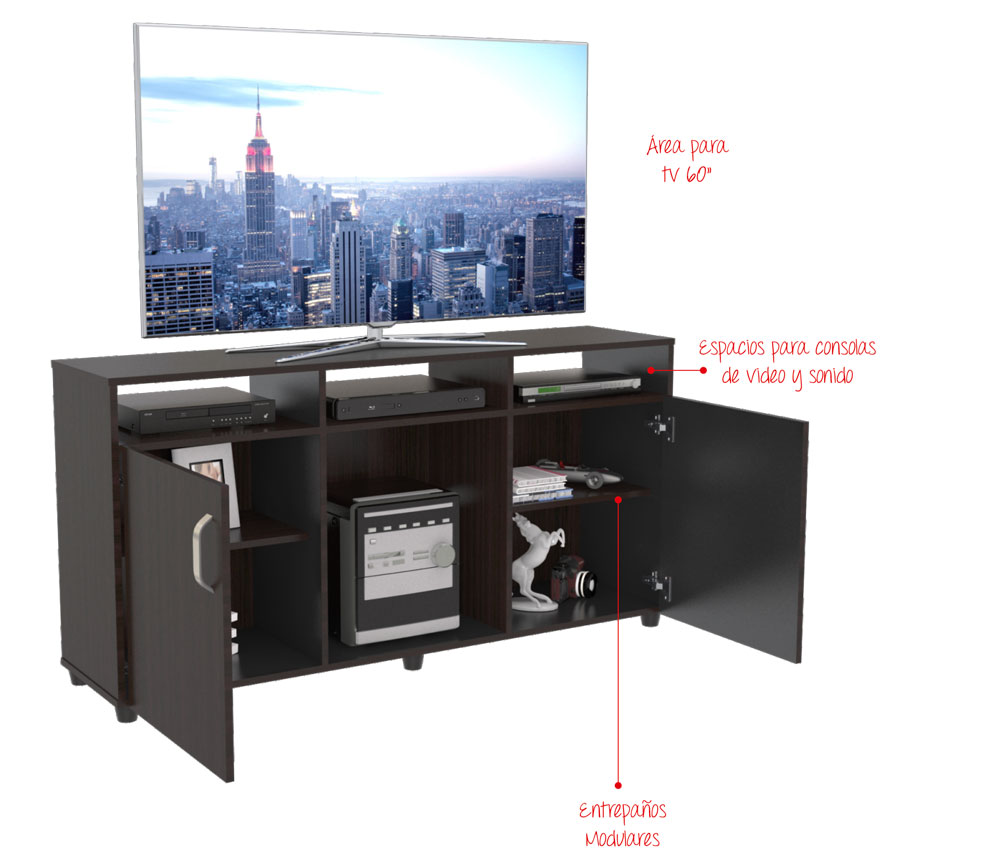 Mesa Tv Maderkit Cali 140 Wengue Alkosto Tienda Online # Almacenes De Muebles Sogamoso