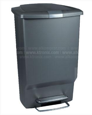 Compra aquí Basurero Plástico SIMPLE HUMAN Gris 45Lt