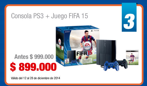 Consola PS3 + Juego FIFA 15