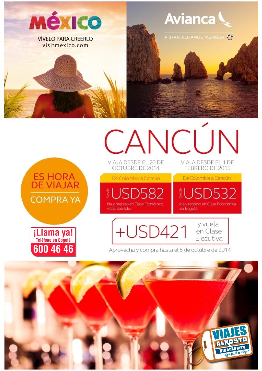 Viaje a Cancun en octubre con Viajes Alkosto