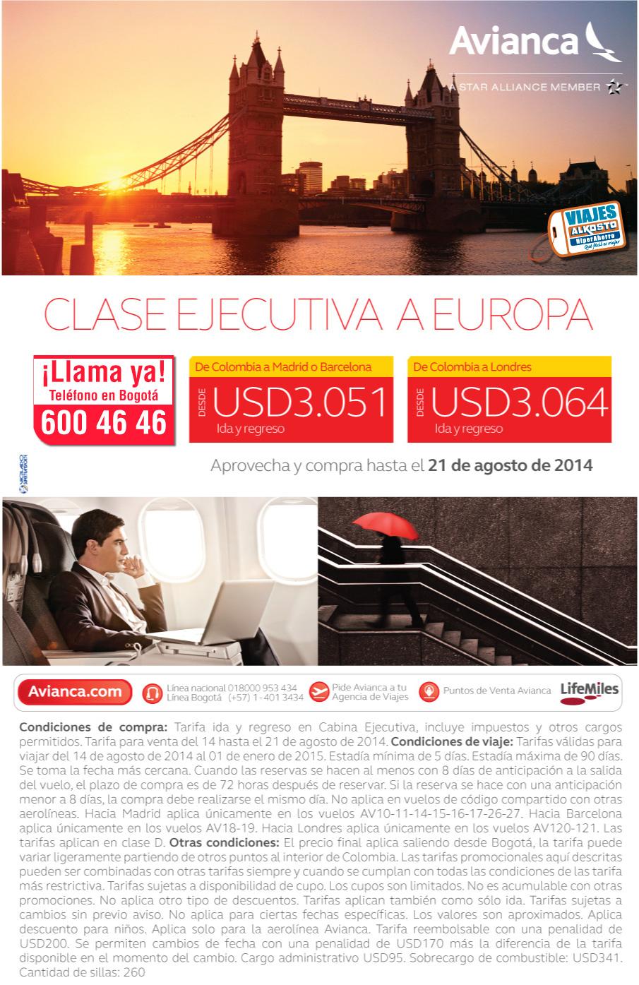 Viaje Europa en clase ejecutiva con viajes alkosto
