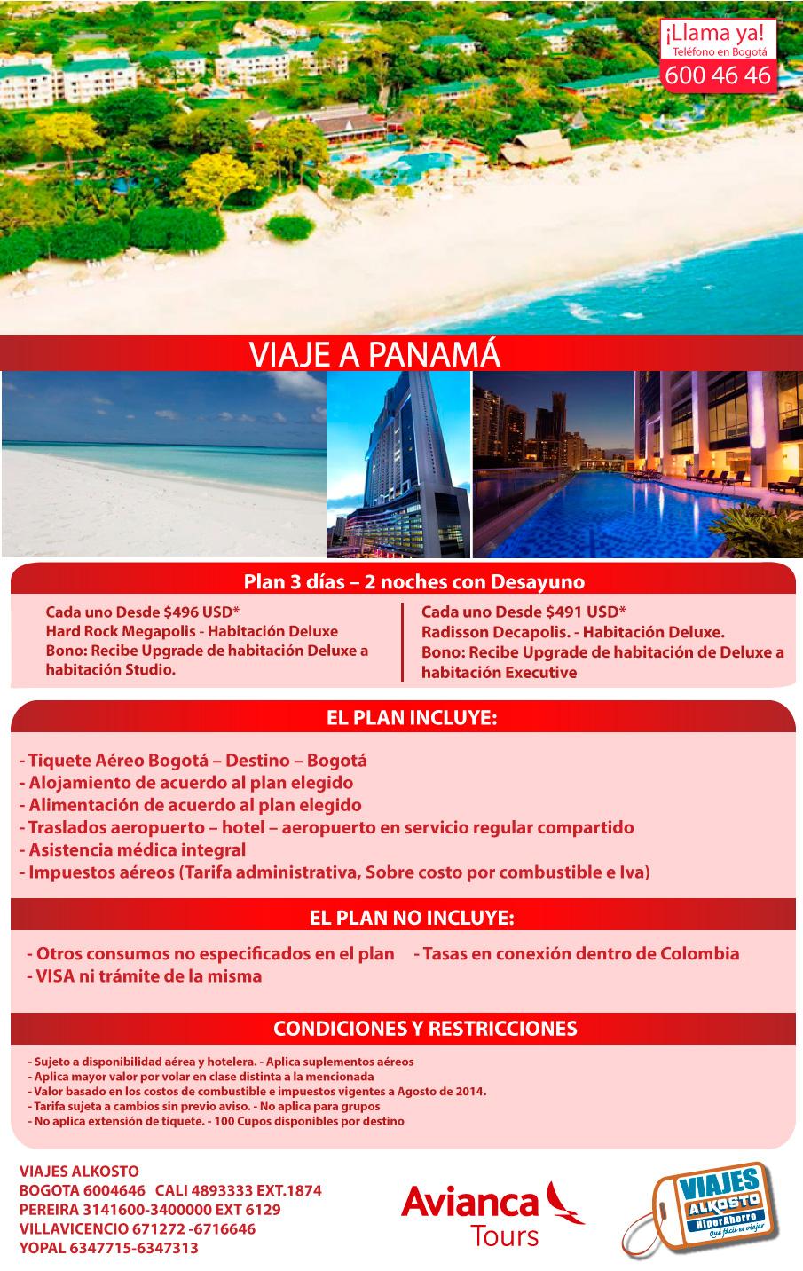 viaje a Panamá septiembre con viajes alkosto