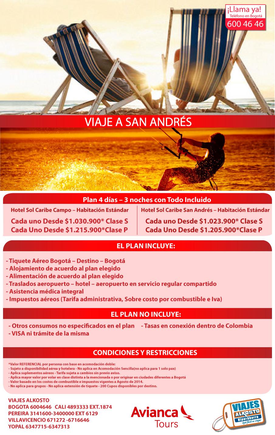 Viaje a San Andrés septiembre con viajes alkosto