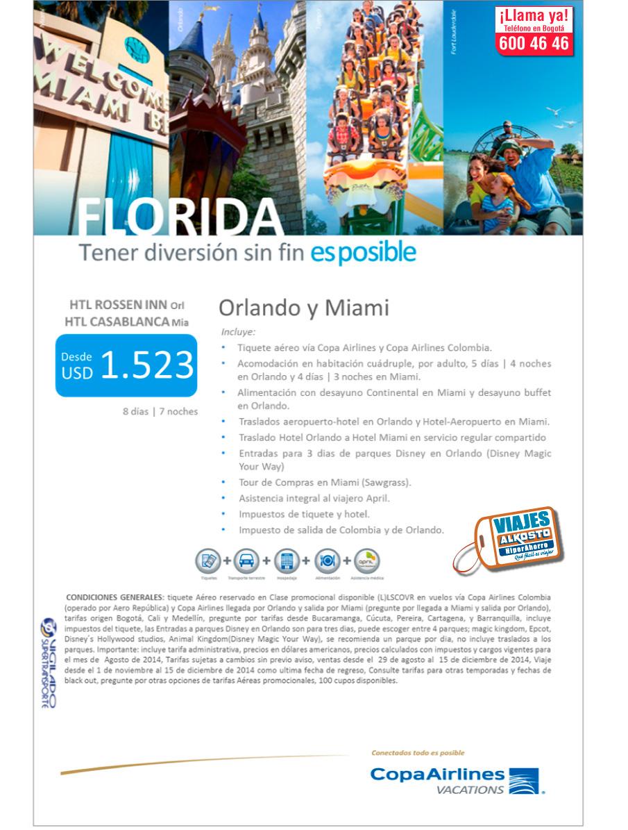 Viaje a Florida con viajes alkosto