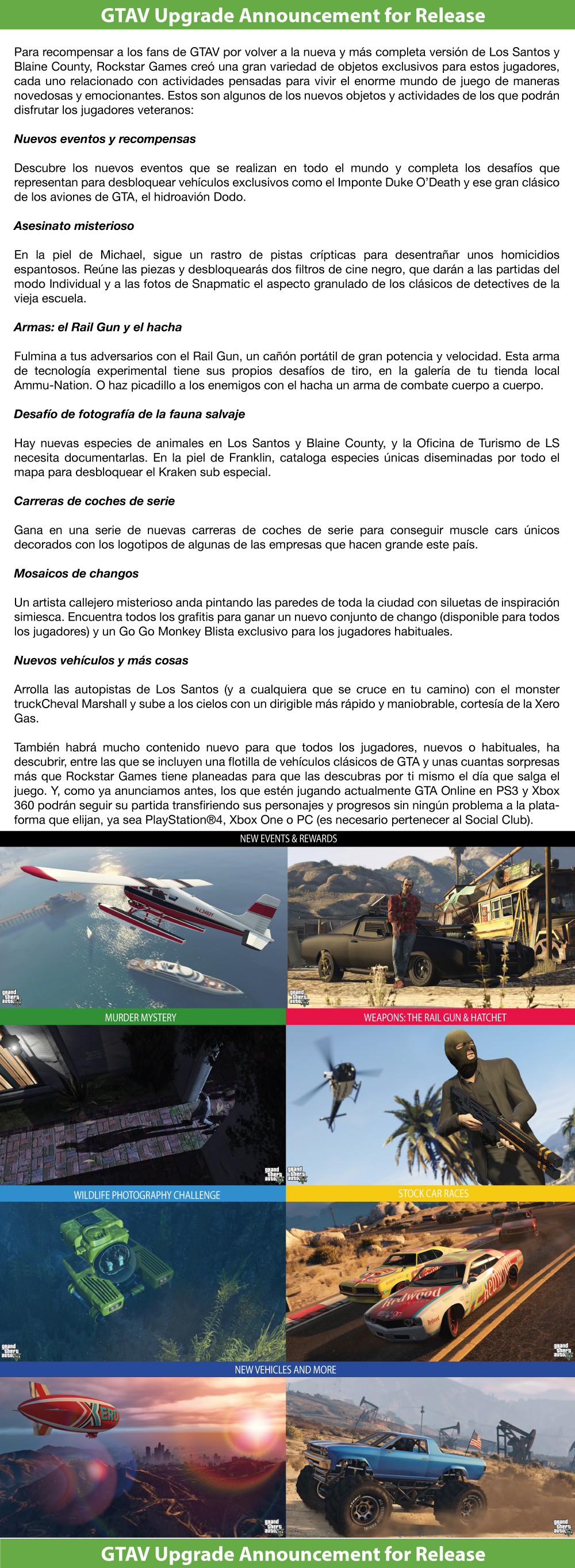 GTAV Upgrade Announcement for Release