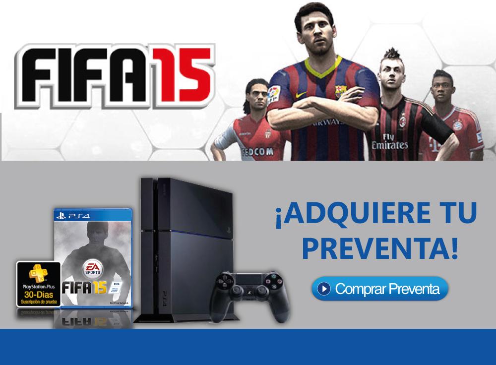 Preventa PS4 y FIFA 15