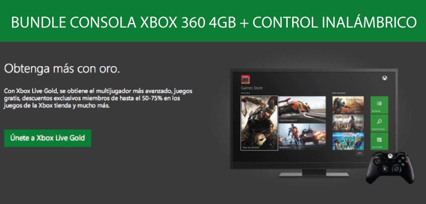 ConsOLA xbox 360 4GB +1 CONTROL