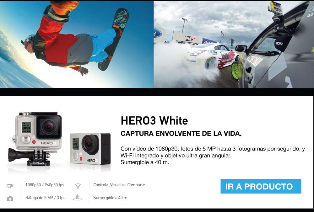 Minisitio GoPro HERO3+ Silver y Hero 3 white Alkosto Tienda Online