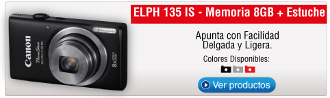 ELPH 135 IS - Memoria 8GB + Estuche