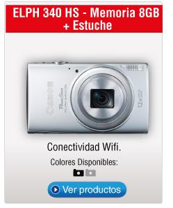 ELPH 340 HS - Memoria 8GB  + Estuche