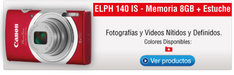 ELPH 140 IS - Memoria 8GB + Estuche