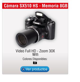 Cámara SX510 HS - Memoria 8GB