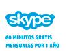Skype 60 minutos al mes gratis por un año