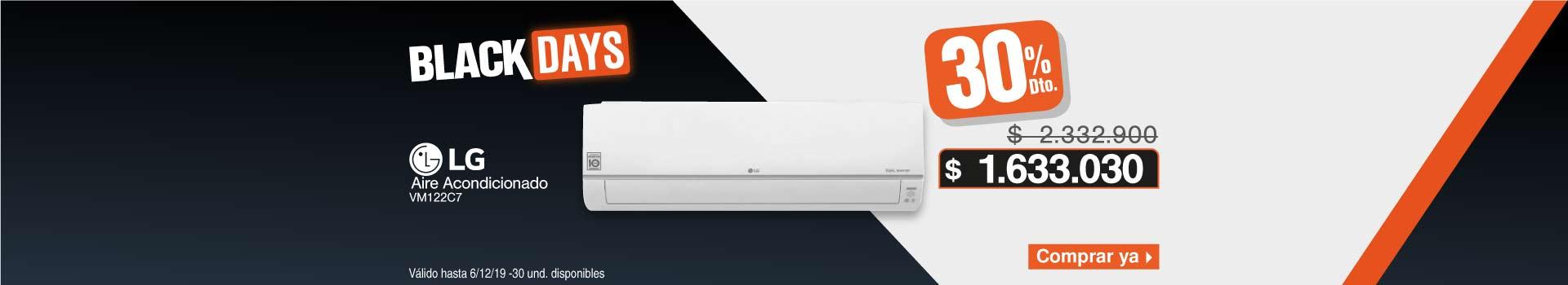AK LB LG AIRE Aire Acondicionado LG Inverter 12000BTU VM122C7 220V Dual Cool Blanco  BCAT1-AIRES 30 NOV