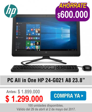 PC All in One HP 24-G021 A8 23.8 - banner oferta