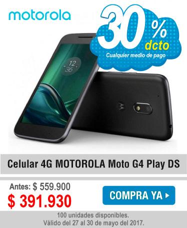 Celular 4G MOTOROLA Moto G4 Play DS - banner oferta