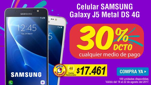 Celular SAMSUNG Galaxy J5 Metal DS 4G - banner destacados